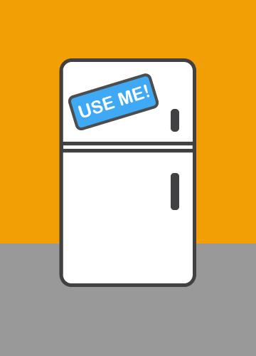 Utilizzo frigorifero della struttura