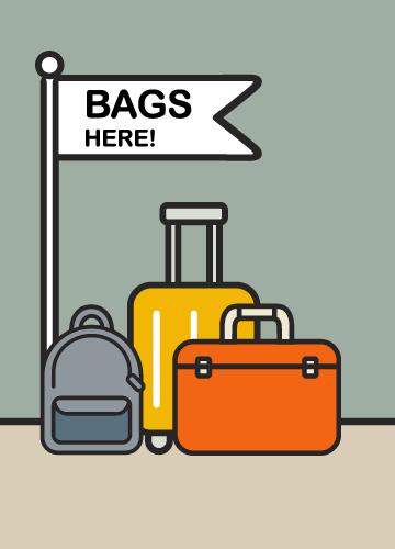 Deposito bagagli prima del check in e dopo check out